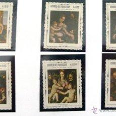 Sellos: SELLOS DE PARAGUAY 1970. 6 VALORES NUEVOS. PINTURA.. Lote 46758295