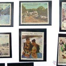 Sellos: SELLOS DE PARAGUAY 1970. 6 VALORES NUEVOS. PINTURA.. Lote 46758472
