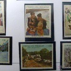Sellos: SELLOS DE PARAGUAY 1970. 6 VALORES NUEVOS. PINTURA.. Lote 46775701