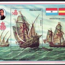 Sellos - TEMA REY J.CARLOS I. PARAGUAY CARABELAS DE CRISTÓBAL COLÓN HB - 56393259