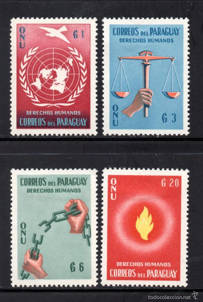 PARAGUAY 581/84** - AÑO 1960 - DECLARACIÓN UNIVERSAL DE LOS DERECHOS HUMANOS (Sellos - Extranjero - América - Paraguay)