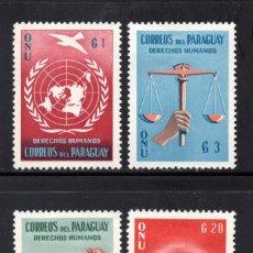 Sellos: PARAGUAY 581/84** - AÑO 1960 - DECLARACIÓN UNIVERSAL DE LOS DERECHOS HUMANOS. Lote 58589365