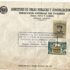 Sellos: PARAGUAY. 1965. HISTORIA POSTAL CARTA MINISTERIAL DE OBRAS PÚBLICAS Y COMUNICACIONES. Lote 67573193