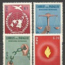 Sellos: PARAGUAY YVERT NUM. 581/584 ** SERIE COMPLETA SIN FIJASELLOS DECLARACION DE LOS DERECHOS HUMANOS. Lote 253222290