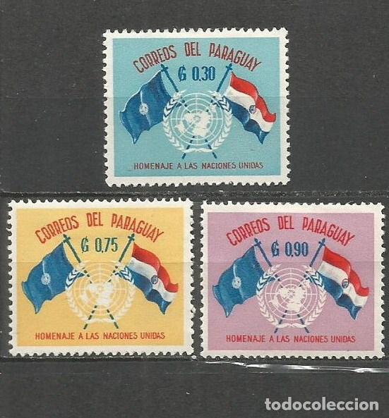 PARAGUAY YVERT NUM. 585/587 * SERIE COMPLETA CON FIJASELLOS (Sellos - Extranjero - América - Paraguay)