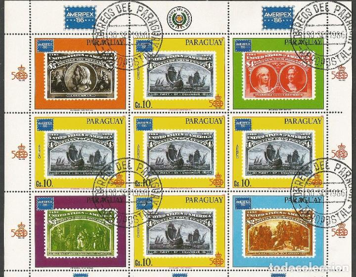 PARAGUAY HOJITA YVERT NUM. 1005A MATASELLADA (Sellos - Extranjero - América - Paraguay)