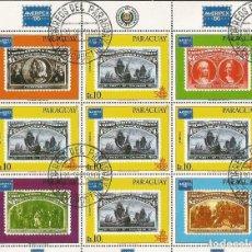 Francobolli: PARAGUAY HOJITA YVERT NUM. 1005A MATASELLADA. Lote 210100632