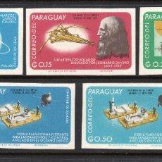 Sellos: PARAGUAY 858/62** - SIN DENTAR - AÑO 1967 - REALIZACIONES ITALIANAS. Lote 68710717