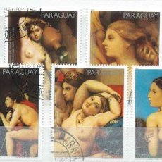 Francobolli: PARAGUAY,PINTURA,YNGRES,SERIE COMPLETA,1981,USADO. Lote 72946397