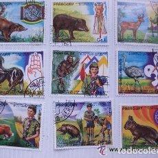 Sellos - LOTE DE 9 SELLOS DE PARAGUAY: BOY SCOUT - 85766792
