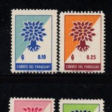 Sellos: PARAGUAY 631/34** - AÑO 1961 - AÑO MUNDIAL DEL REFUGIADO. Lote 88106860