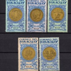 Francobolli: PARAGUAY 780/84** - AÑO 1965 - MEDALLAS Y MONEDAS. Lote 91676940