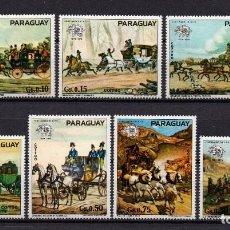 Selos: PARAGUAY 1374/80** - AÑO 1974 - CENTENARIO DE LA UNION POSTAL UNIVERSAL. Lote 91677100