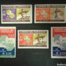 Sellos: PARAGUAY. YVERT 795/9 SERIE COMPLETA NUEVA SIN CHARNELA. SCOUTS.. Lote 92242028