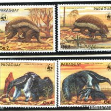 Sellos: PARAGUAY 1985 MI 3854 A 3857 4 SELLOS MNH + 4 FDC + 4 TARJETAS MAXIMAS WWF. Lote 106681587