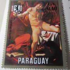 Sellos: LOTE DE 7 ESTAMPILLA SELLO CORREO DEL PARAGUAY MUSEO BERLIN DAHLEM ARTE PINTURA. Lote 107738483