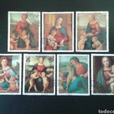Selos: PARAGUAY. YVERT 1959/65. SERIE COMPLETA USADA. NAVIDAD. PINTURAS. RAFAEL.. Lote 113452332
