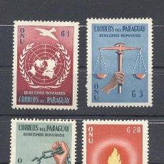 Sellos: PARAGUAY , DERECHOS HUMANOS, ,NUEVO, SEÑALES DE CHARNELA. Lote 113583455