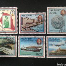 Sellos: PARAGUAY. YVERT 2183/6 + A-903/4. SERIE COMPLETA USADA.. Lote 117591054