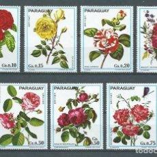 Sellos: PARAGUAY,1974,ROSAS,NUEVOS,MNH**,MICHEL 2537-2543. Lote 127604492