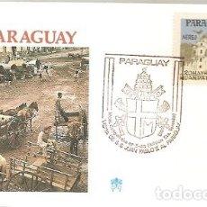Sellos: PARAGUAY & FDC VISITA DE SUA SANTIDADE O PAPA JOÃO PAULO II, CAACUPE 1988 (9889). Lote 134842190