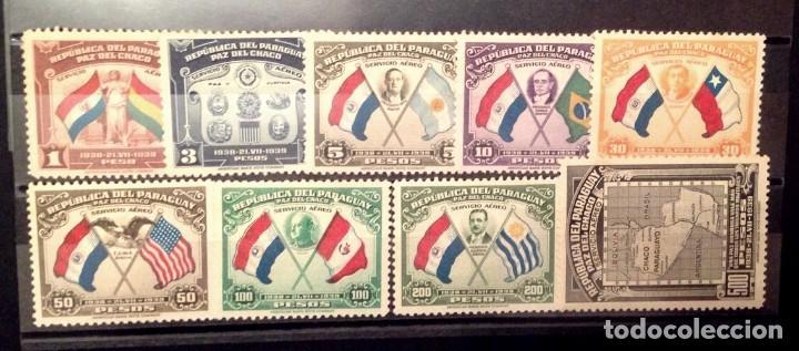 PARAGUAY.AÑO 1939.SERIE COMPLETA AEREA NUEVA .CONFERENCIA DE PAZ DE CHACO. (Sellos - Extranjero - América - Paraguay)
