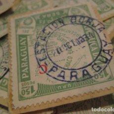 Sellos: C.1934 MAS DE 200 SELLOS ANTIGUOS DE PARAGUAY DURANTE LA GUERRA DEL CHACO BOREAL. RAROS. IRREPETIBLE. Lote 135785530