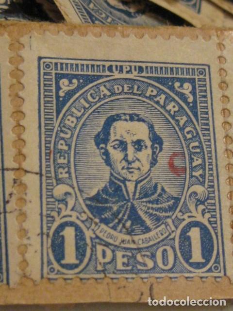 C.1930 - 90 SELLOS ANTIGUOS DE LA REPUBLICA DE PARAGUAY DE UN PESO DIFICILES RAROS. VER FOTOS (Sellos - Extranjero - América - Paraguay)
