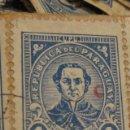 Sellos: C.1930 - 90 SELLOS ANTIGUOS DE LA REPUBLICA DE PARAGUAY DE UN PESO DIFICILES RAROS. VER FOTOS. Lote 135791398