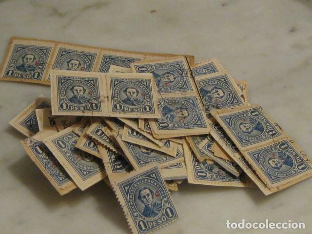 Sellos: C.1930 - 90 SELLOS ANTIGUOS DE LA REPUBLICA DE PARAGUAY DE UN PESO DIFICILES RAROS. VER FOTOS - Foto 2 - 135791398