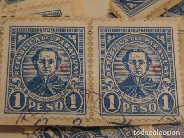 Sellos: C.1930 - 90 SELLOS ANTIGUOS DE LA REPUBLICA DE PARAGUAY DE UN PESO DIFICILES RAROS. VER FOTOS - Foto 3 - 135791398