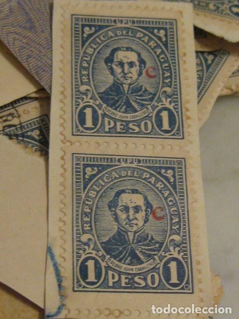 Sellos: C.1930 - 90 SELLOS ANTIGUOS DE LA REPUBLICA DE PARAGUAY DE UN PESO DIFICILES RAROS. VER FOTOS - Foto 4 - 135791398