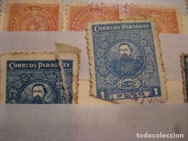 Sellos: C. 1908 - 21 SELLOS MUY ANTIGUOS DE LA REPÚBLICA DE PARAGUAY. DIVERSOS.MUY RAROS DIFICILES VER LEER - Foto 3 - 135799154