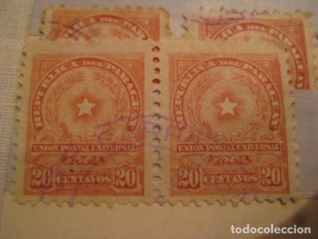 Sellos: C. 1908 - 21 SELLOS MUY ANTIGUOS DE LA REPÚBLICA DE PARAGUAY. DIVERSOS.MUY RAROS DIFICILES VER LEER - Foto 4 - 135799154