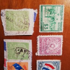 Sellos: SEIS SELLOS DE PARAGUAY - PESOS Y GUARANIES. Lote 142632794