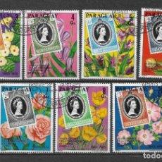 Sellos: PARAGUAY 1978 USADO MONARQUIA FLORA - 9/5. Lote 147560014