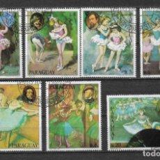 Sellos: PARAGUAY 1980 USADO PINTURA - 9/5. Lote 147560126
