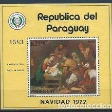 Sellos: PARAGUAY,1972,NAVIDAD,NUEVOS,MICHEL 2398. Lote 152392626