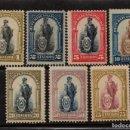 Sellos: PARAGUAY 192/98* - AÑO 1911 - CENTENARIO DE LA INDEPENDENCIA. Lote 153095830