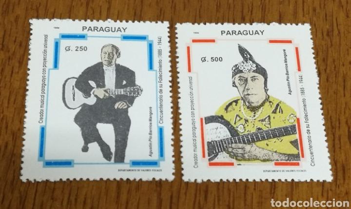 PARAGUAY : MÚSICA, AGUSTÍN PIO BARRIOS AÑO 1994 MNH. (Sellos - Extranjero - América - Paraguay)