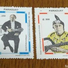 Sellos: PARAGUAY : MÚSICA, AGUSTÍN PIO BARRIOS AÑO 1994 MNH.. Lote 154824756