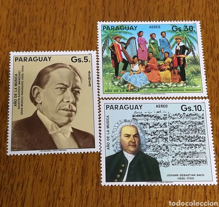 PARAGUAY :YT. 951/54 SIN GOMA (Sellos - Extranjero - América - Paraguay)