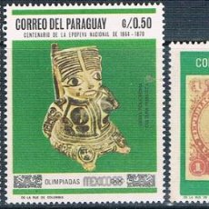 Sellos: PARAGUAY 1967 / 68 - MICHEL 1788 + 1793 + 1825 ( ** ). Lote 160241670