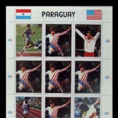 Sellos: PARAGUAY 1984 - OLYMPICS LOS ANGELES 84 - YVERT Nº 2143A** MINI HOJA. Lote 166545454