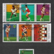 Sellos: PARAGUAY DEPORTES TENIS USADO - 7/36. Lote 182681855