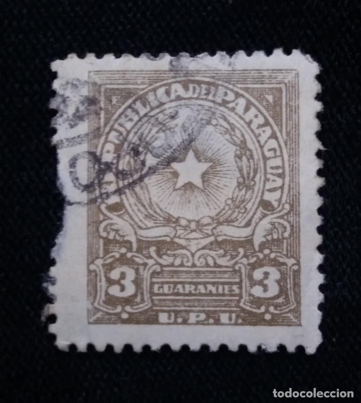 PARAGUAY, 3 GUARANIES, AÑO 1957. (Sellos - Extranjero - América - Paraguay)