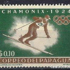 Francobolli: PARAGUAY 1963 - COOPERACIÓN INTERNACIONAL EN EL DEPORTE - SELLO NUEVO **. Lote 186217467