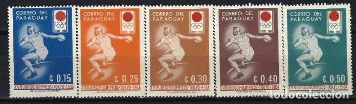PARAGUAY 1964 - JJOO DE TOKIO, S.COMPLETA - SELLOS NUEVOS **/* (Sellos - Extranjero - América - Paraguay)