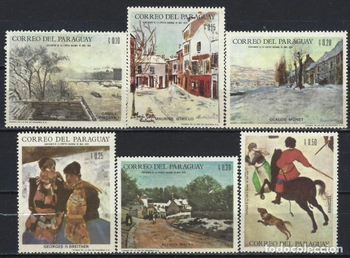 PARAGUAY 1968 - JJOO DE INVIERNO DE GRENOBLE, PINTURA DE PAISAJES,S.COMPLETA - SELLOS NUEVOS ** (Sellos - Extranjero - América - Paraguay)
