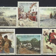 Sellos: PARAGUAY 1968 - JJOO DE INVIERNO DE GRENOBLE, PINTURA DE PAISAJES,S.COMPLETA - SELLOS NUEVOS **. Lote 186225957